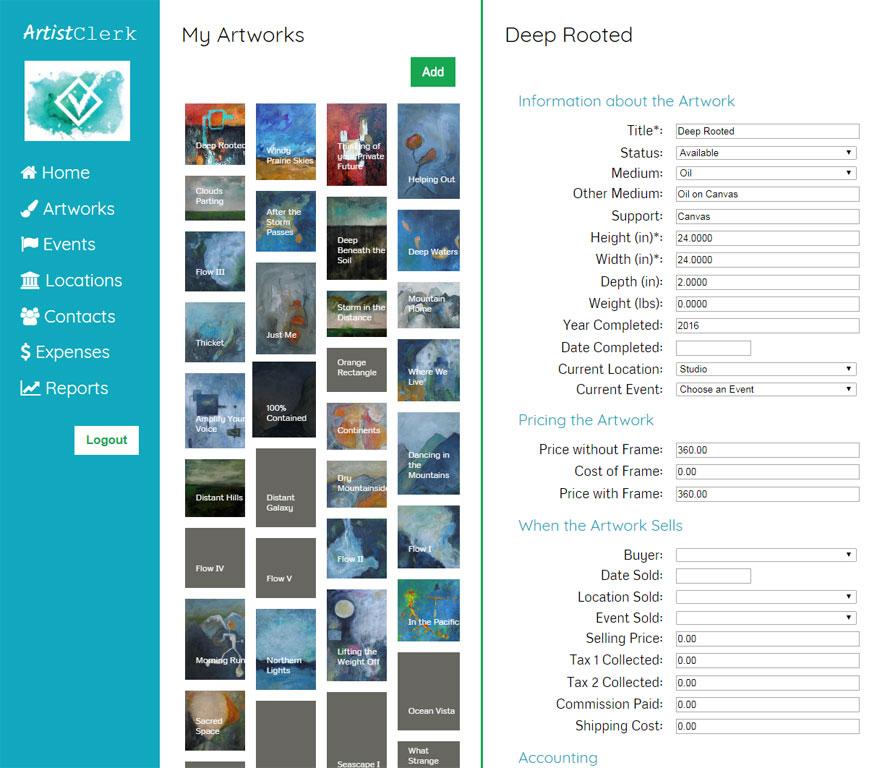 ArtistClerk: Business Software for Artists – Business